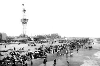 Great Yarmouth, the Beach 1899