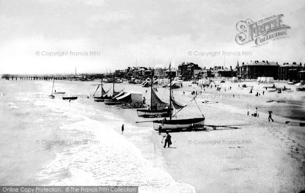 Photo of Great Yarmouth, The Sands From Britannia Pier 1887
