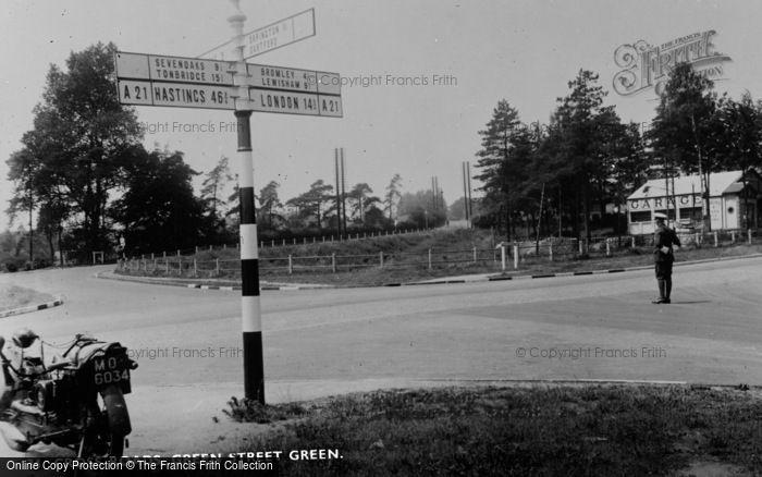 Photo of Green Street Green, Cross Roads c.1955