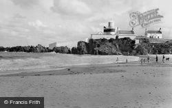 Stroove, White Bay And Lighthouse c.1960, Greencastle