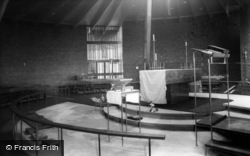 St Peter's Church, Interior c.1955, Greenhill