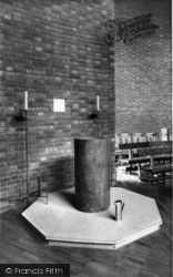 St Peter's Church, The Font c.1955, Greenhill