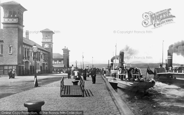 Photo of Greenock, Pier and Steamers 1897