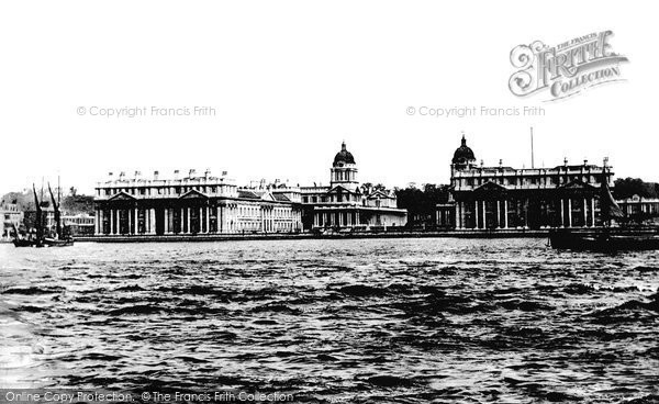 Greenwich, the Royal Naval College 1951