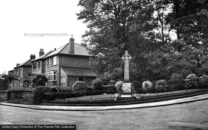 Photo of Grenoside, War Memorial 1953