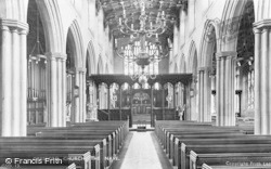 Gresford, Church, The Nave c.1955