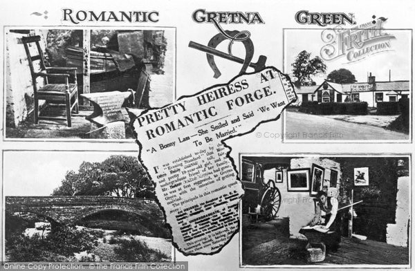 Photo of Gretna Green, Five View Composite c.1940