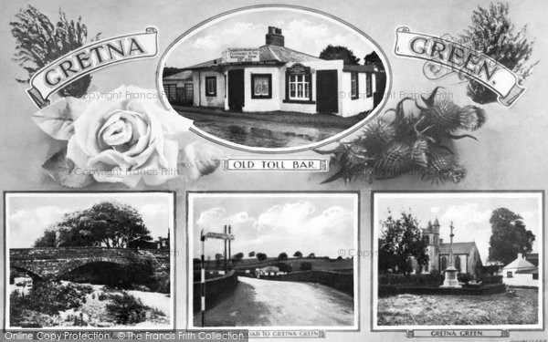 Gretna Green, Four View Composite c.1940