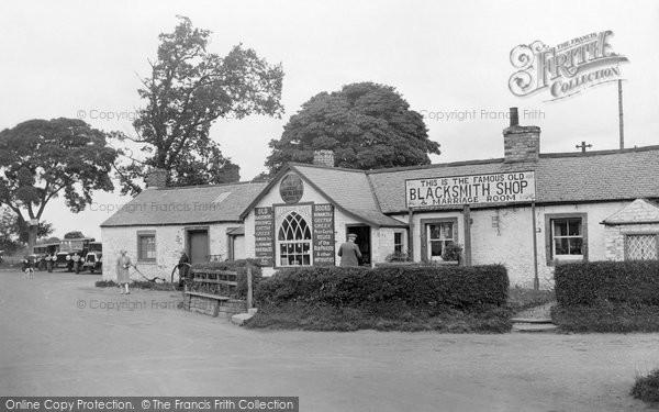 Gretna Green, Old Blacksmith's Shop c.1955