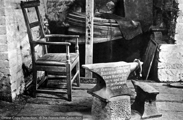 Photo of Gretna Green, Old Blacksmith's Shop interior c1955, ref. G163009