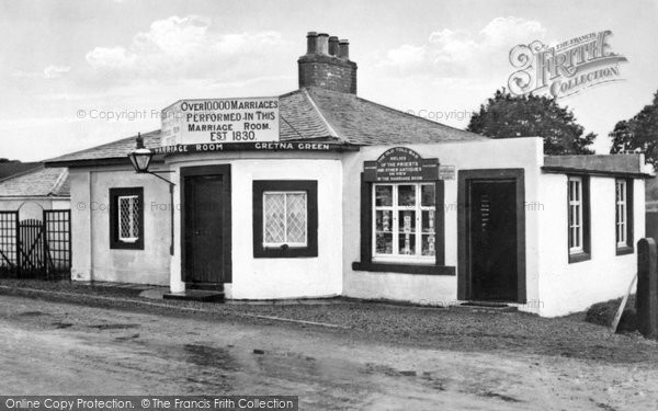 Photo of Gretna Green, Old Toll Bar, First House in Scotland c1940, ref. G163022
