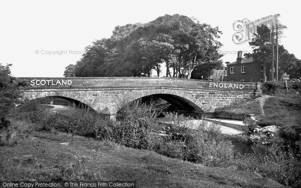 Photo of Gretna Green, Sark Bridge c.1955
