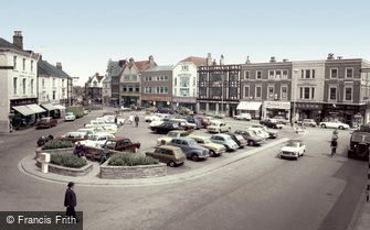 Grimsby, the Old Market Place c1965