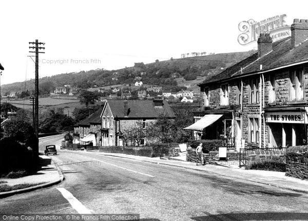 Grindleford, the Village c1955