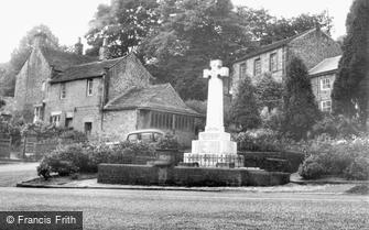 Grindleford, the War Memorial c1955