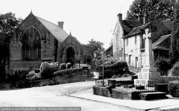 Grindleford, Village Square c1960