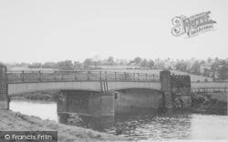 The River Ribble And Bridge c.1960, Grindleton