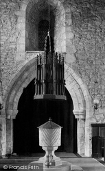Grinton, Norman Font, St Andrew's Church 1913