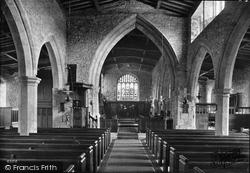 Grinton, St Andrew's Church Interior 1913