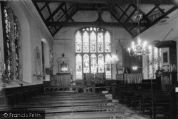 St John's Church Interior c.1955, Groombridge