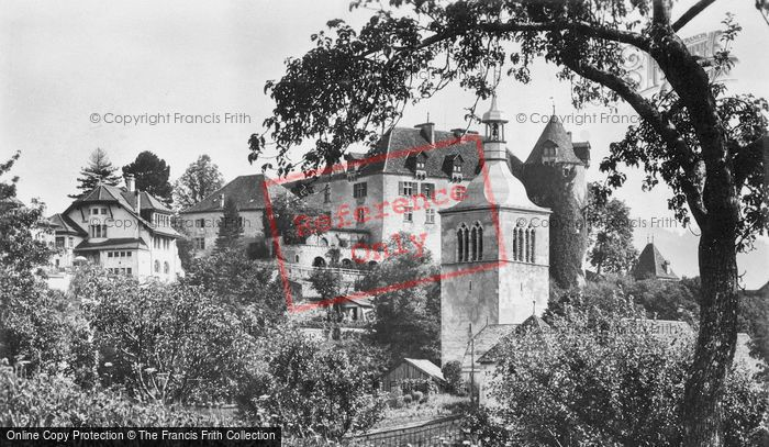 Photo of Gruyères, Chateau And Church c.1920