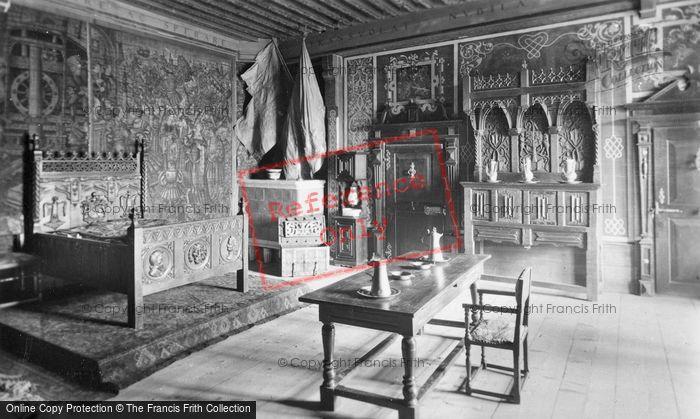 Photo of Gruyères, Chateau, Chambre A Coucher Des Comtes c.1930
