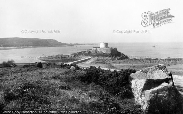 Photo of Guernsey, Rocquaine Castle And Bay 1893