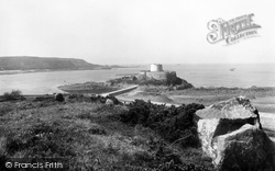 Guernsey, Rocquaine Castle And Bay 1893