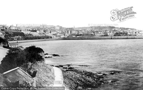Photo of Guernsey, St Peter Port From The Bathing Place 1892
