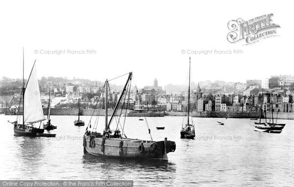 Photo of Guernsey, St Peter Port From White Rock 1892