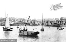 Guernsey, St Peter Port From White Rock 1892