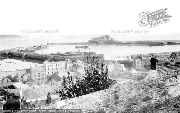 Photo of Guernsey, St Peter Port Harbour 1892