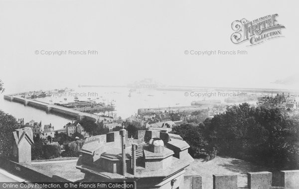 Photo of Guernsey, St Peter Port Harbour 1899