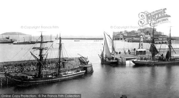 Photo of Guernsey, St Peter Port Harbour c.1870