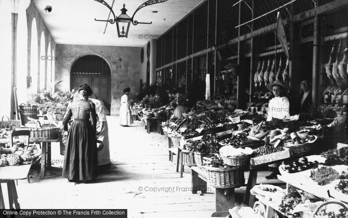 Photo of Guernsey, The French Halls Vegetable Market, St Peter Port c.1900