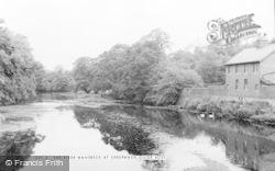 Guidepost, The River Wansbeck At Sheepwash c.1955, Guide Post