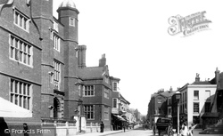 Guildford, Almshouses And High Street 1895