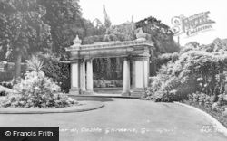 Guildford, Castle Gardens, The Memorial c.1965