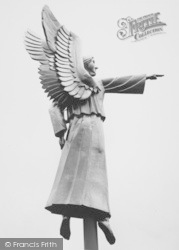 Guildford, Cathedral, Angel Weather Vane c.1960