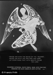 Guildford, Cathedral, South Porch, Angel With Psaltery c.1965