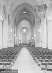 Guildford, Cathedral, The Nave c.1960