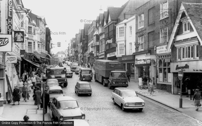 Photo of Guildford, High Street c.1965