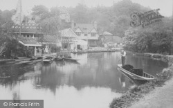 Guildford, River Wey And Boathouses c.1910