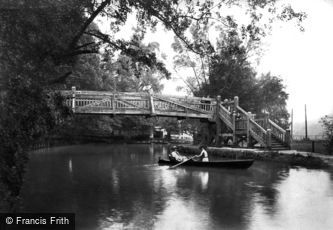 Guildford, River Wey, New Footbridge 1909