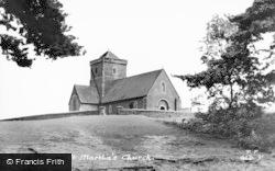 Guildford, St Martha's Church c.1950