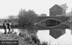 Stoke Bridge And Mill c.1955, Guildford