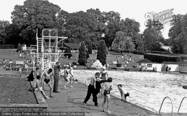 Photo of Guildford, The Swimming Pool c.1955