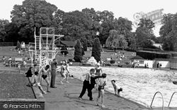 Guildford, The Swimming Pool c.1955