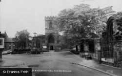 Guisborough, St Nicholas Church And Memorial c.1965