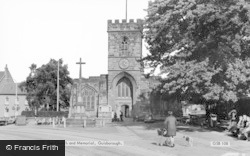 Guisborough, St Nicholas' Church And Memorial c.1965